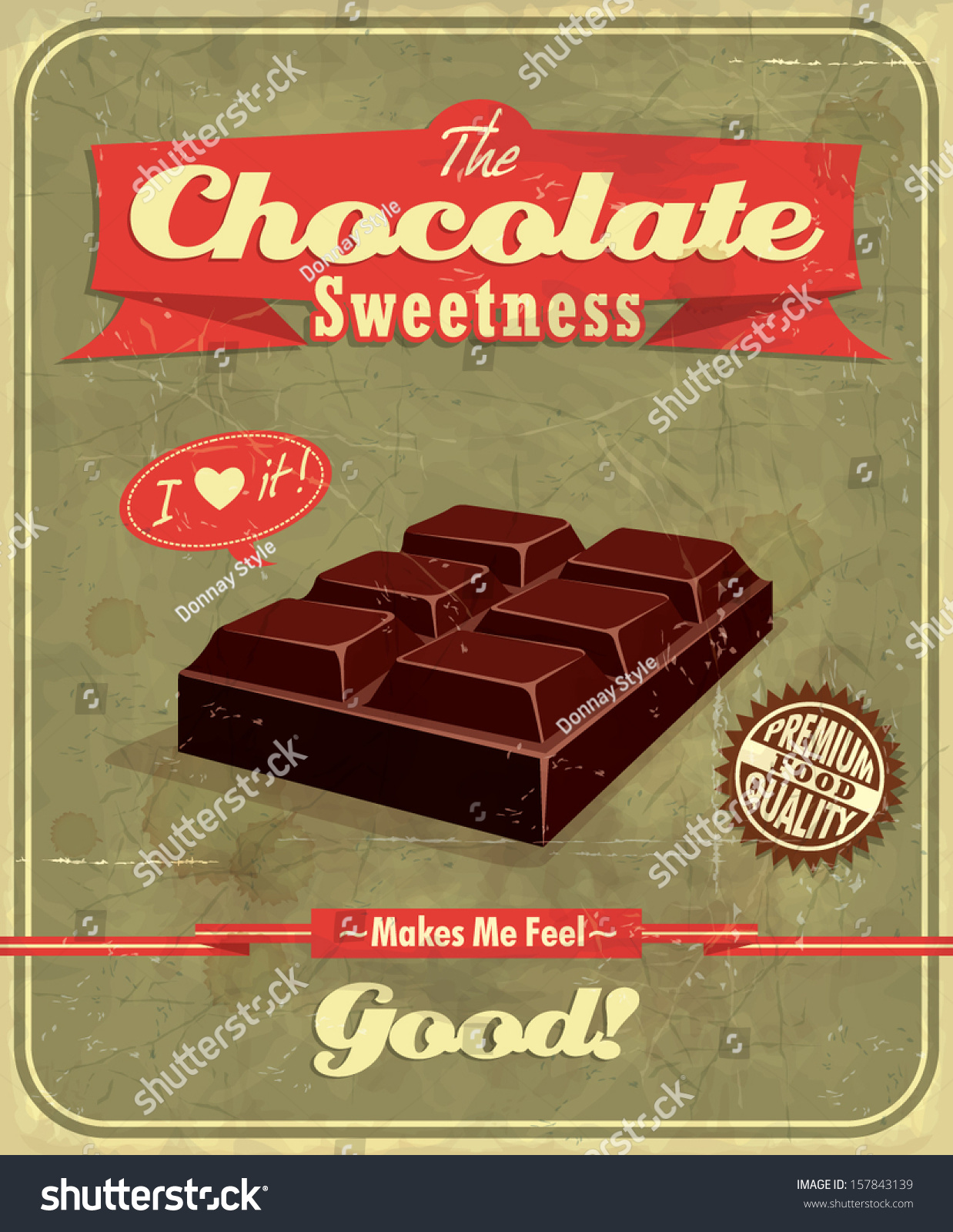 Vintage Chocolate Poster Design Stock Vector 157843139 - Shutterstock