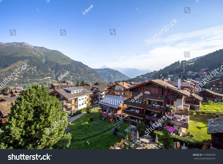 zermatt, switzerland, the famous ski resort town in the swiss alps