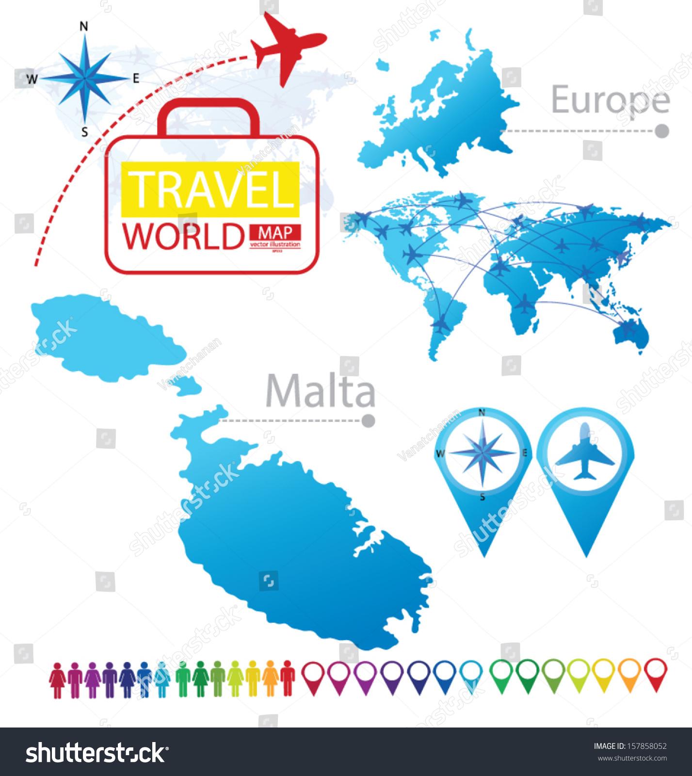 Picture of: Vector De Stock Libre De Regalias Sobre Republic Malta Map Europe Modern Globe157858052