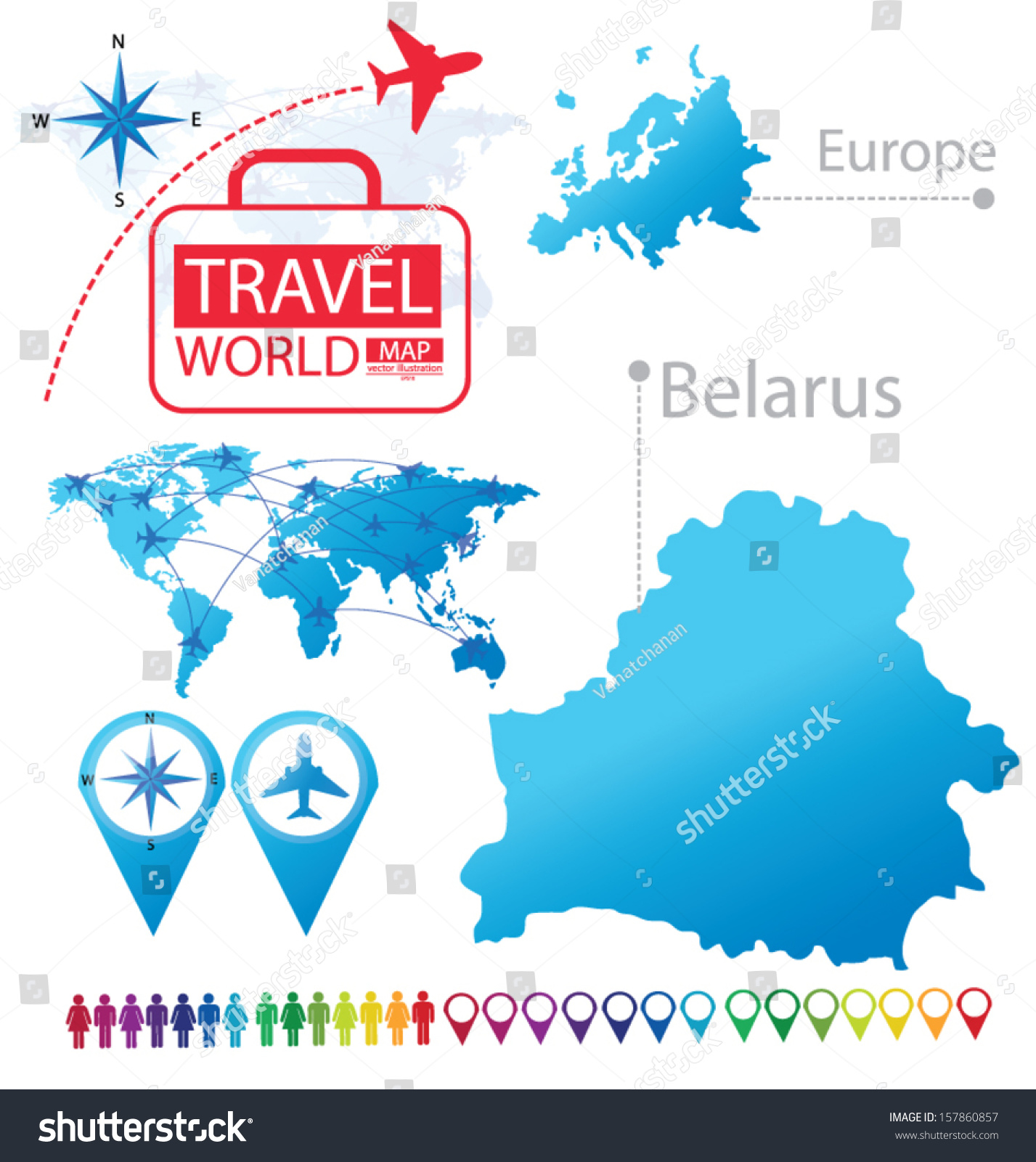 Picture of: Belarus Map Europe Modern Globe Travel Stock Vector Royalty Free 157860857
