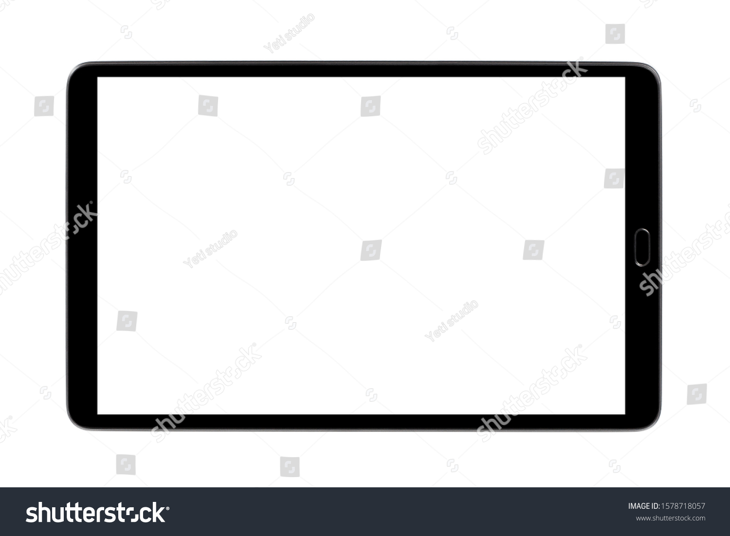 Black tablet, isolated on white background #1578718057