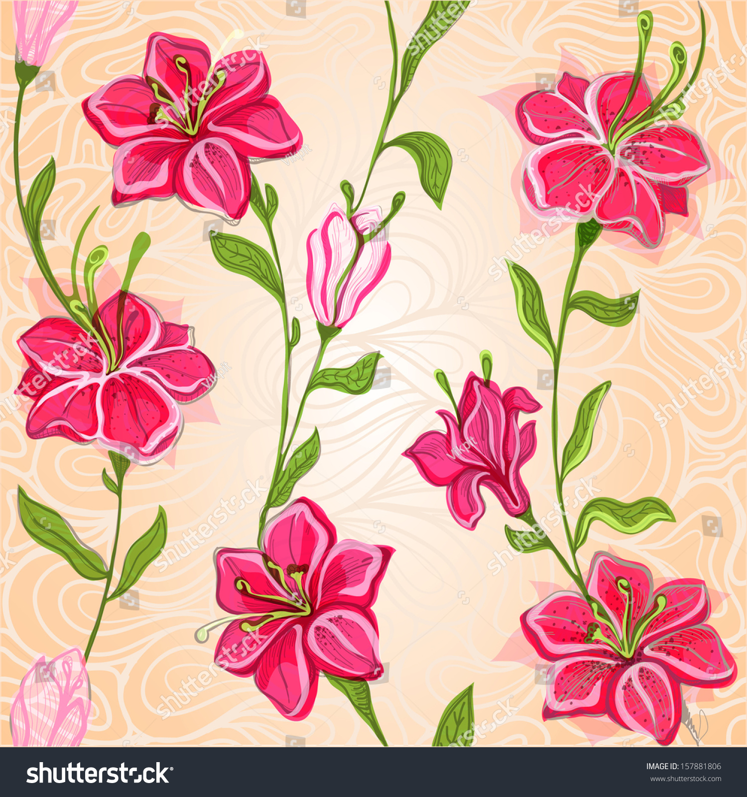 Wallpapers of lily flower with a background of waves recurring id 157881806 izmirmasajfo