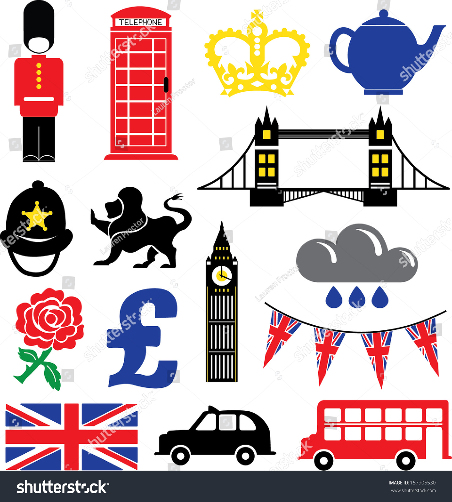 british vector icons symbols stock vector royalty free 157905530