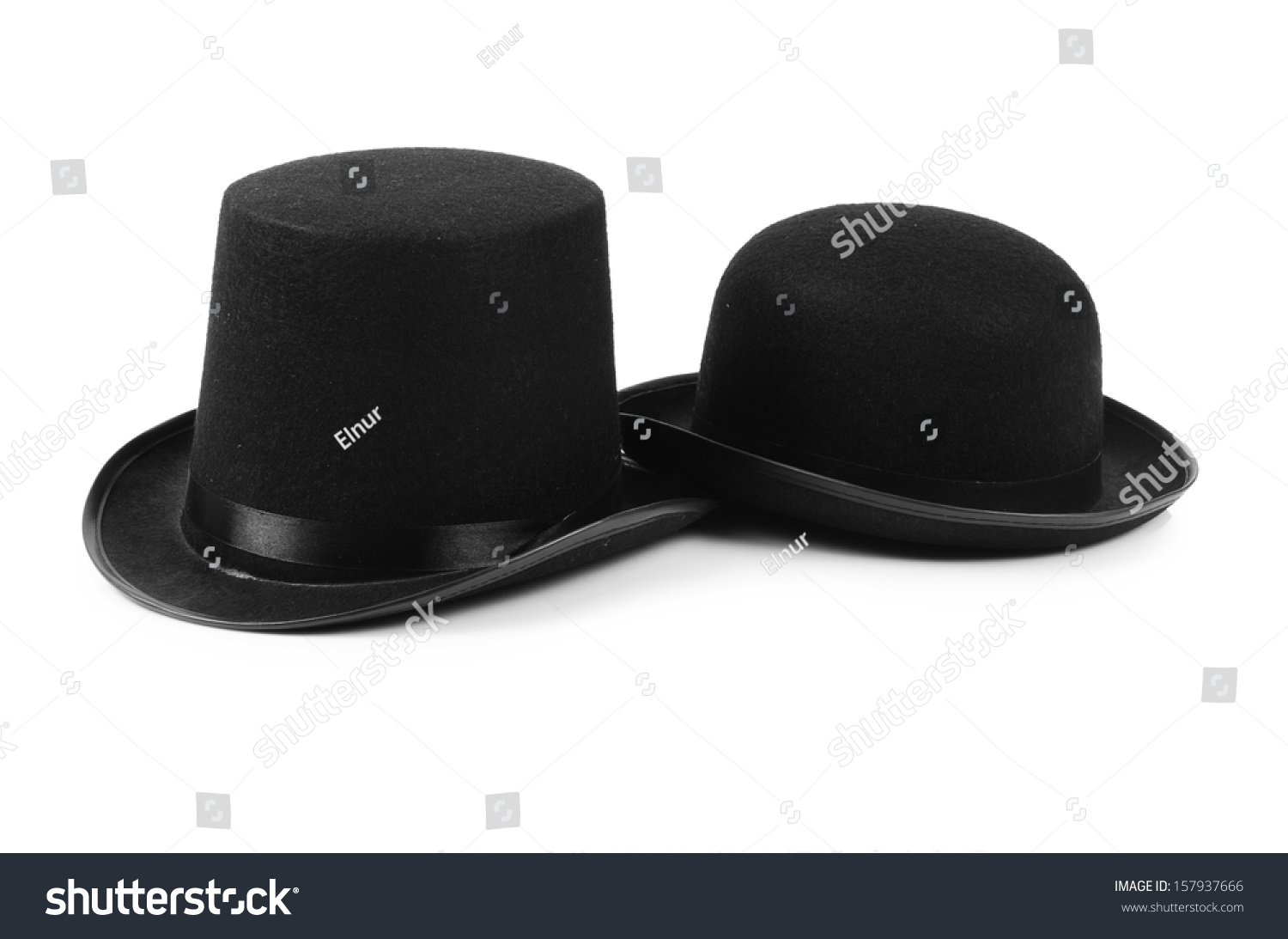 Black tophat top hat isolated on the white #157937666