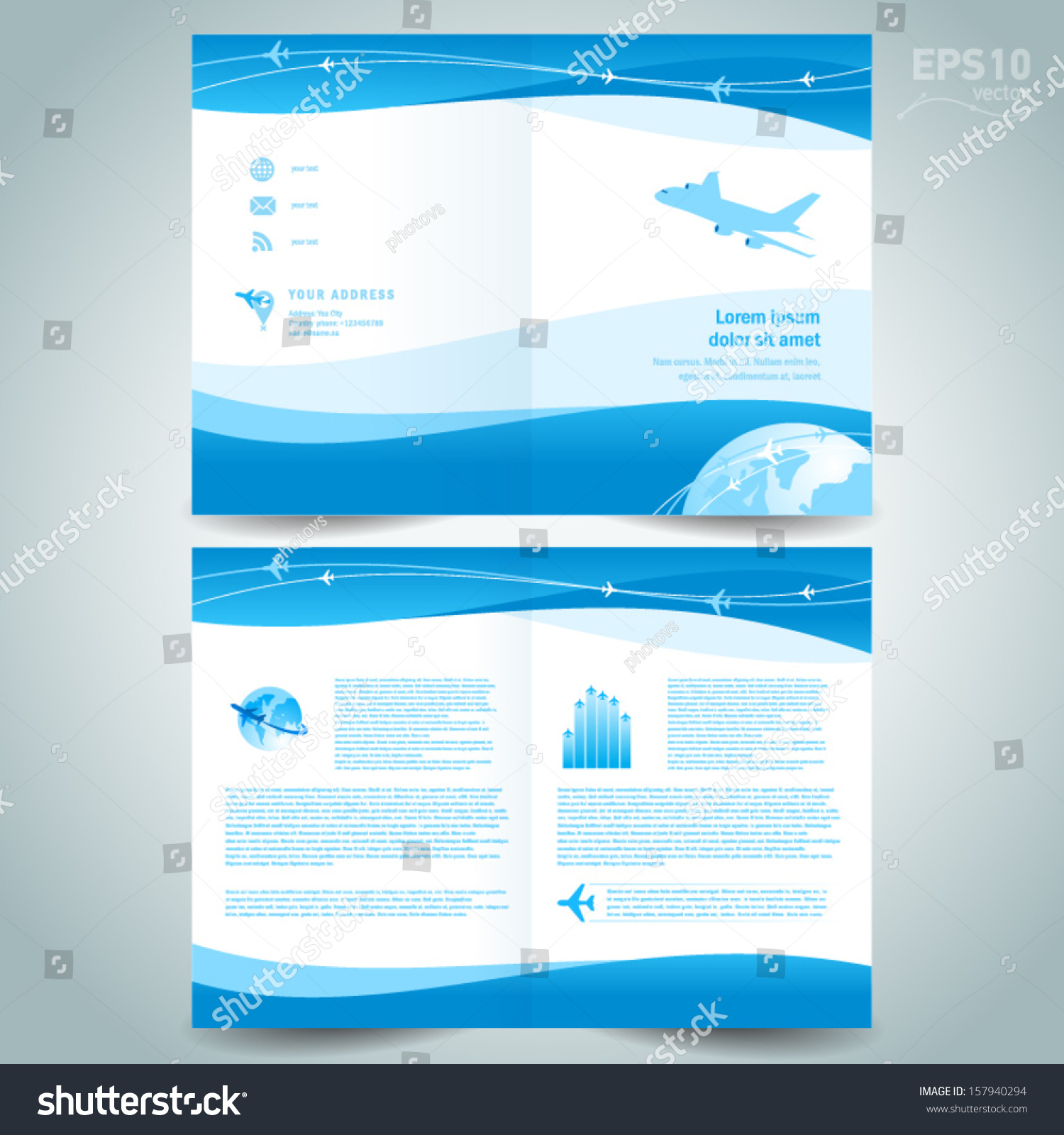 Booklet design template catalog brochure folder stock for Booklet brochure template