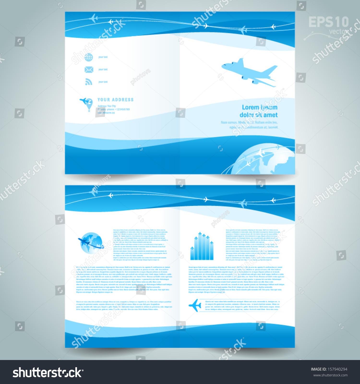 booklet design template catalog brochure folder stock vector 157940294 shutterstock. Black Bedroom Furniture Sets. Home Design Ideas