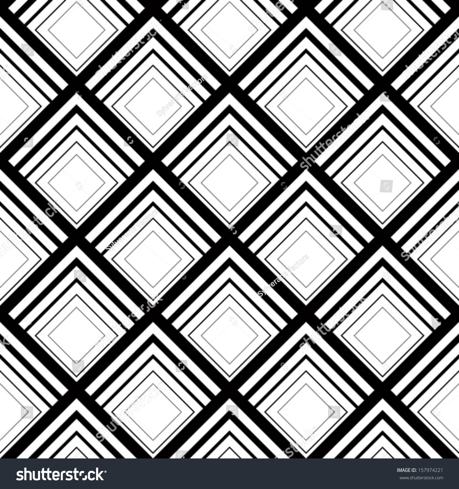 seamless geometric vector background simple black stock vector