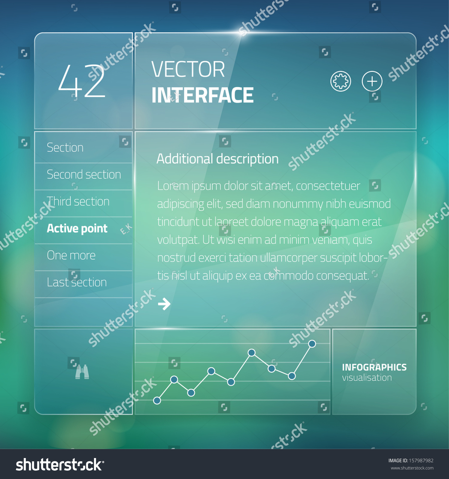 Website interface template design transparent user for User interface design document template