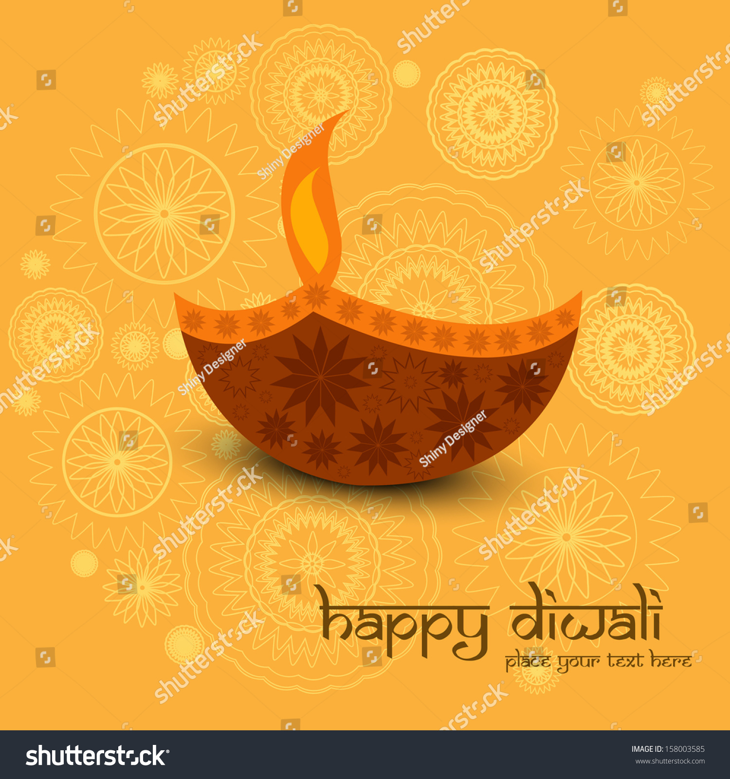 Beautiful Diwali Greeting Card Colorful Background Stock Vector
