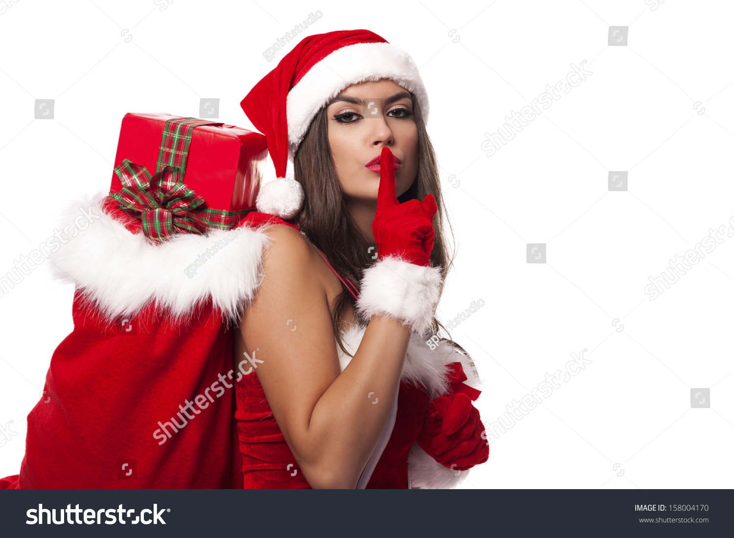 Secret Santa 2016 (sign up to be included) Stock-photo-sexy-santa-claus-woman-with-christmas-sack-saying-shh-158004170