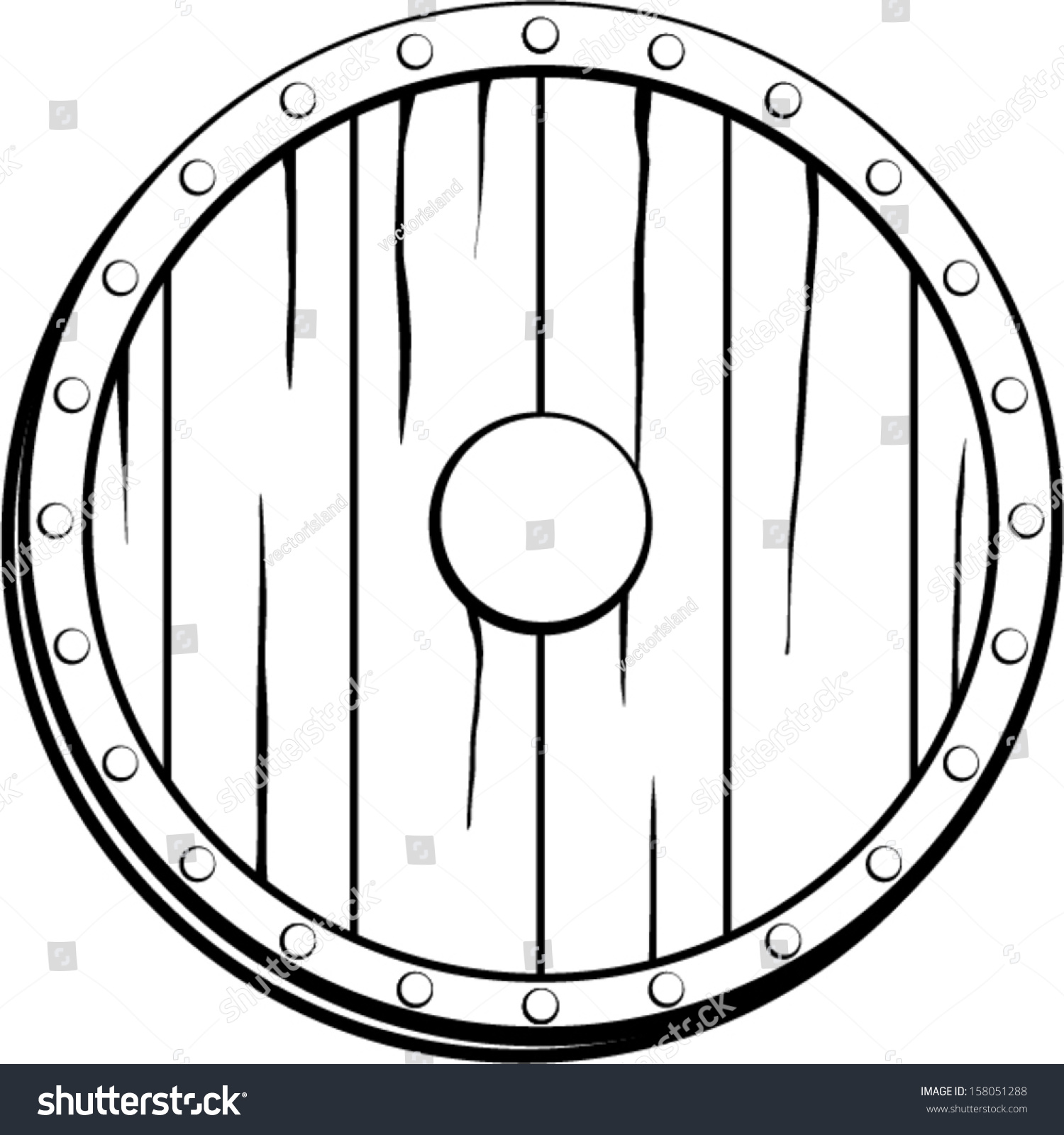 Viking Shield Template Enchanting Shield Patch Template Pattern