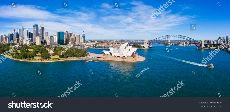Aerial View of Sydney, Australia. Drone shot. Panorama #1580548351
