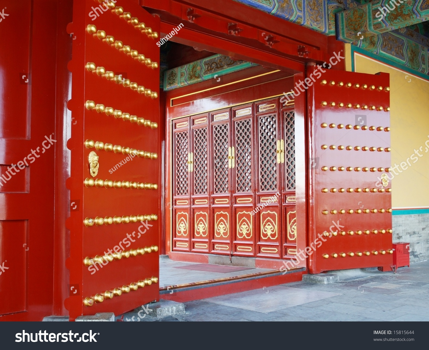 Red Door Chinese Temple Stock Photo Edit Now 15815644 Shutterstock