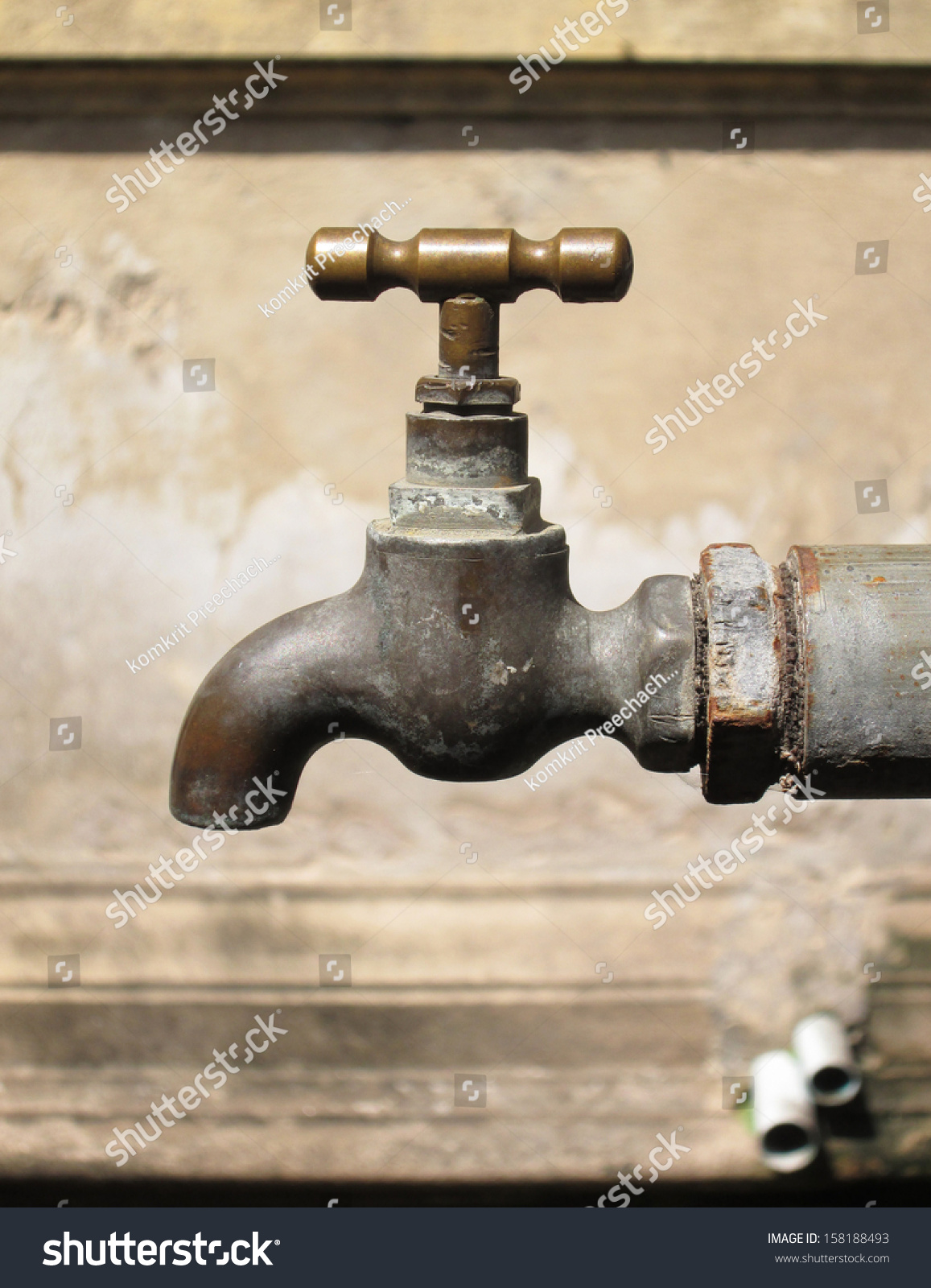 Old Rusty Water Taps Stock Photo (Royalty Free) 158188493 - Shutterstock
