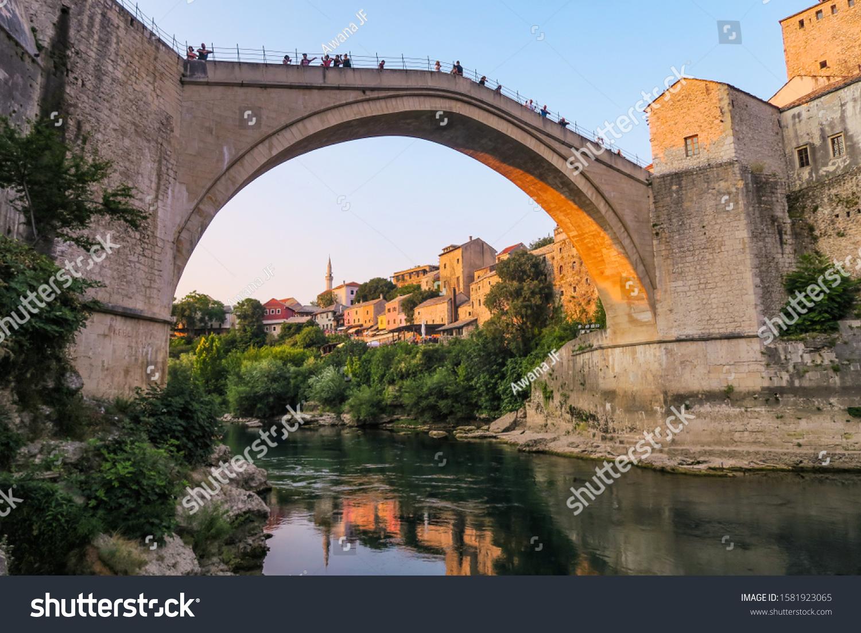stock-photo-mostar-s-old-bridge-in-bosni