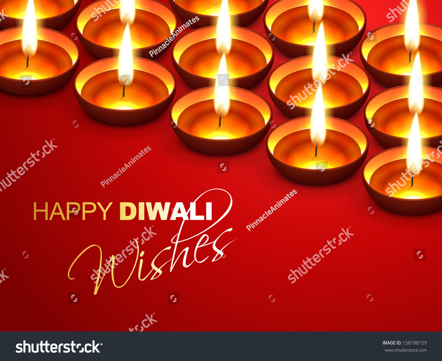 Happy Diwali Wishes Greeting Design Stock Vector Royalty Free