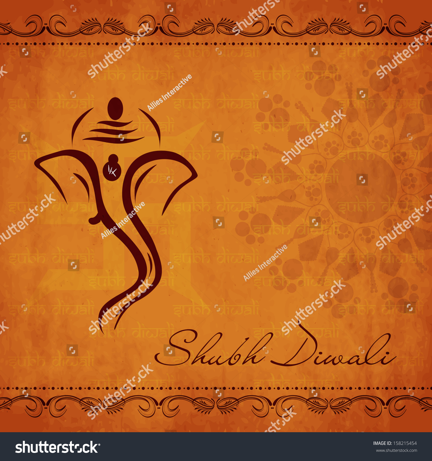 Royalty Free Indian Festival Of Lights Shubh Diwali 158215454