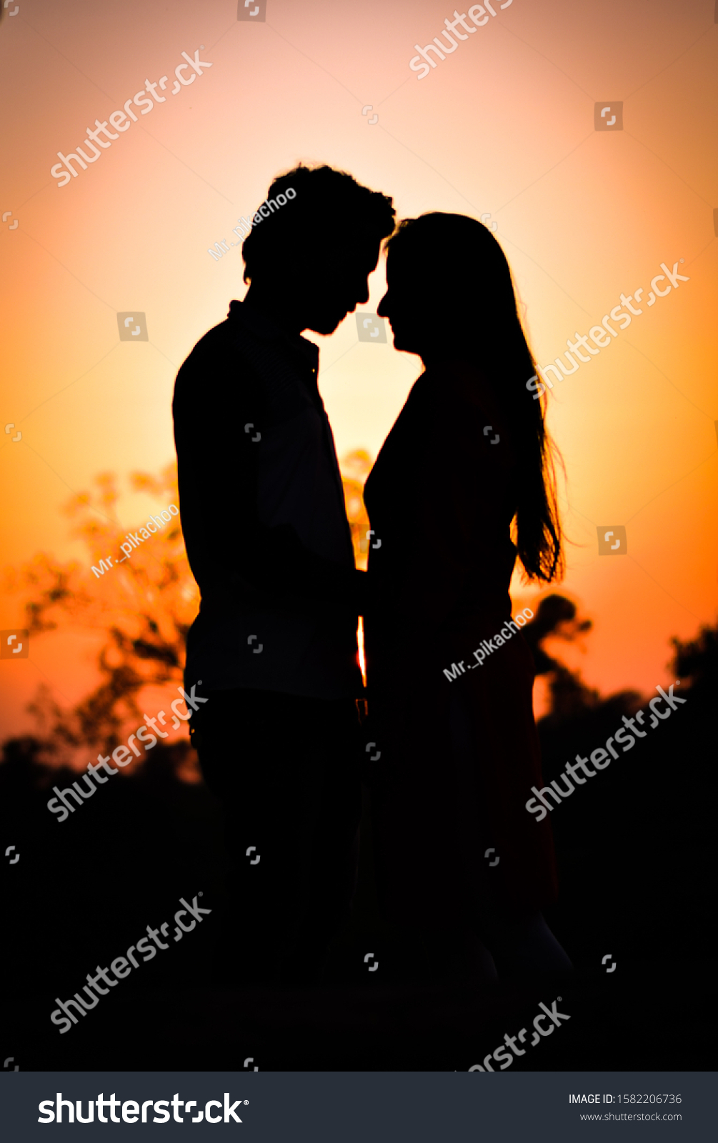 Lovely Couple Poseamazing Picture Cute Couplecouple Stock Photo