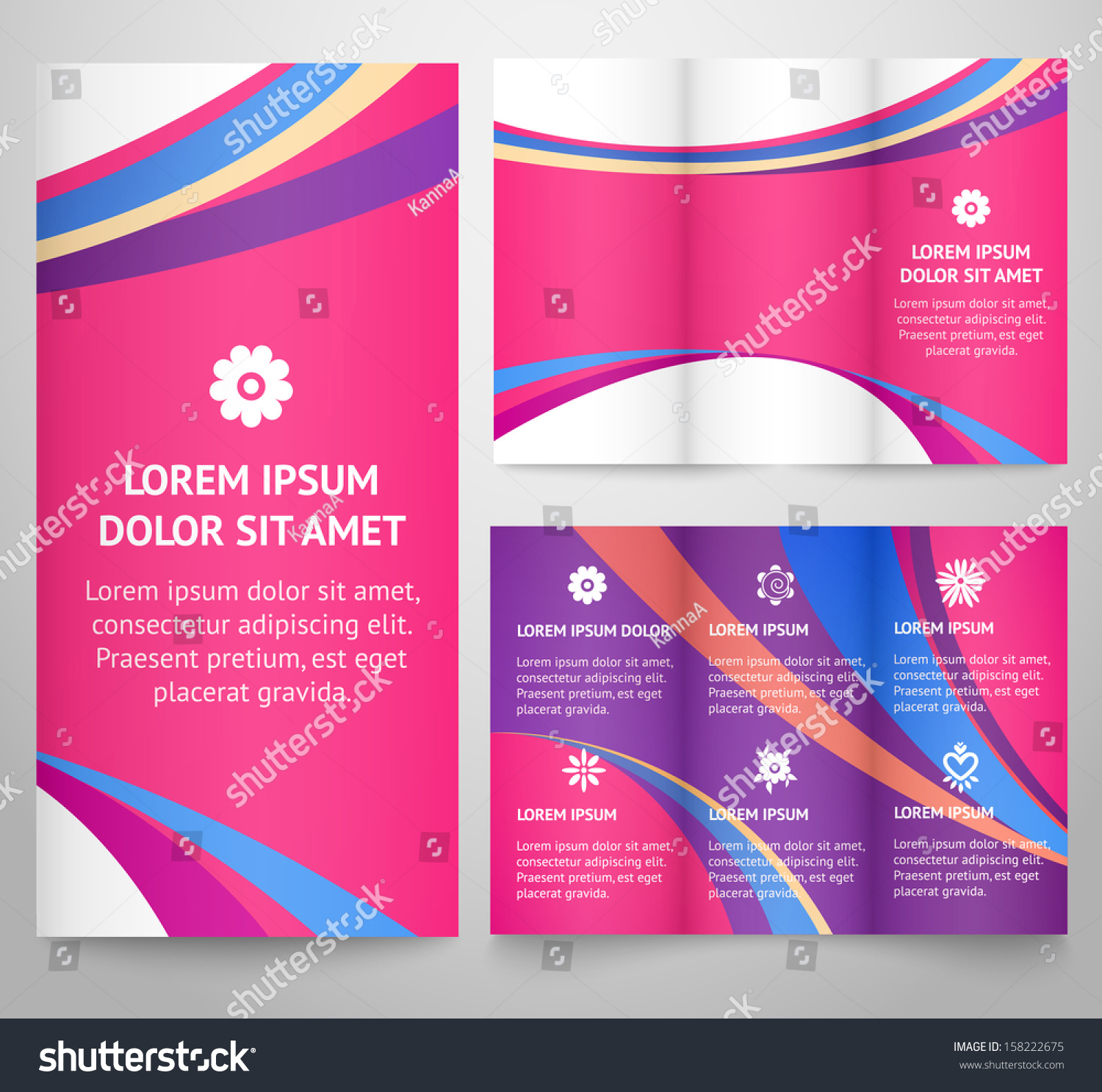 Professional Three Fold Business Flyer Template Vector – Professional Corporate Flyer