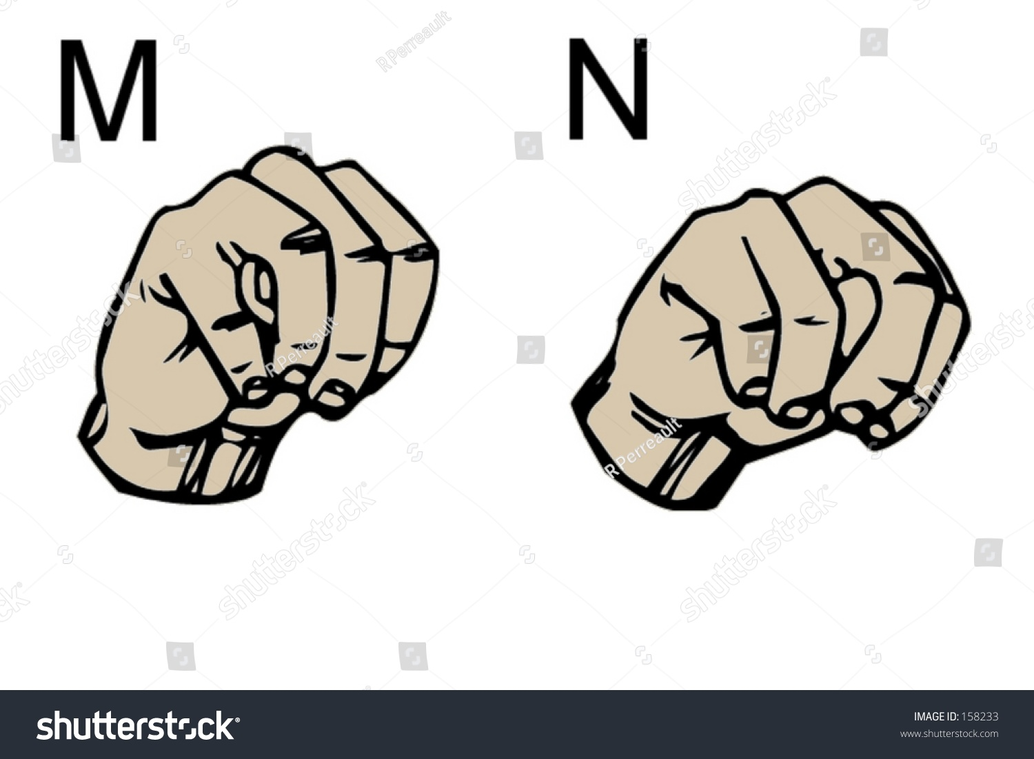 english sign language letters m n stock photo 158233 shutterstock. Black Bedroom Furniture Sets. Home Design Ideas