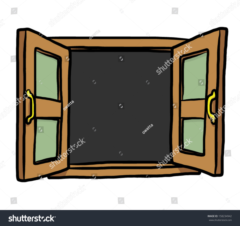 Open Window Clipart Clipart Suggest: Open Window Cartoon Vector Illustration Isolated Stock
