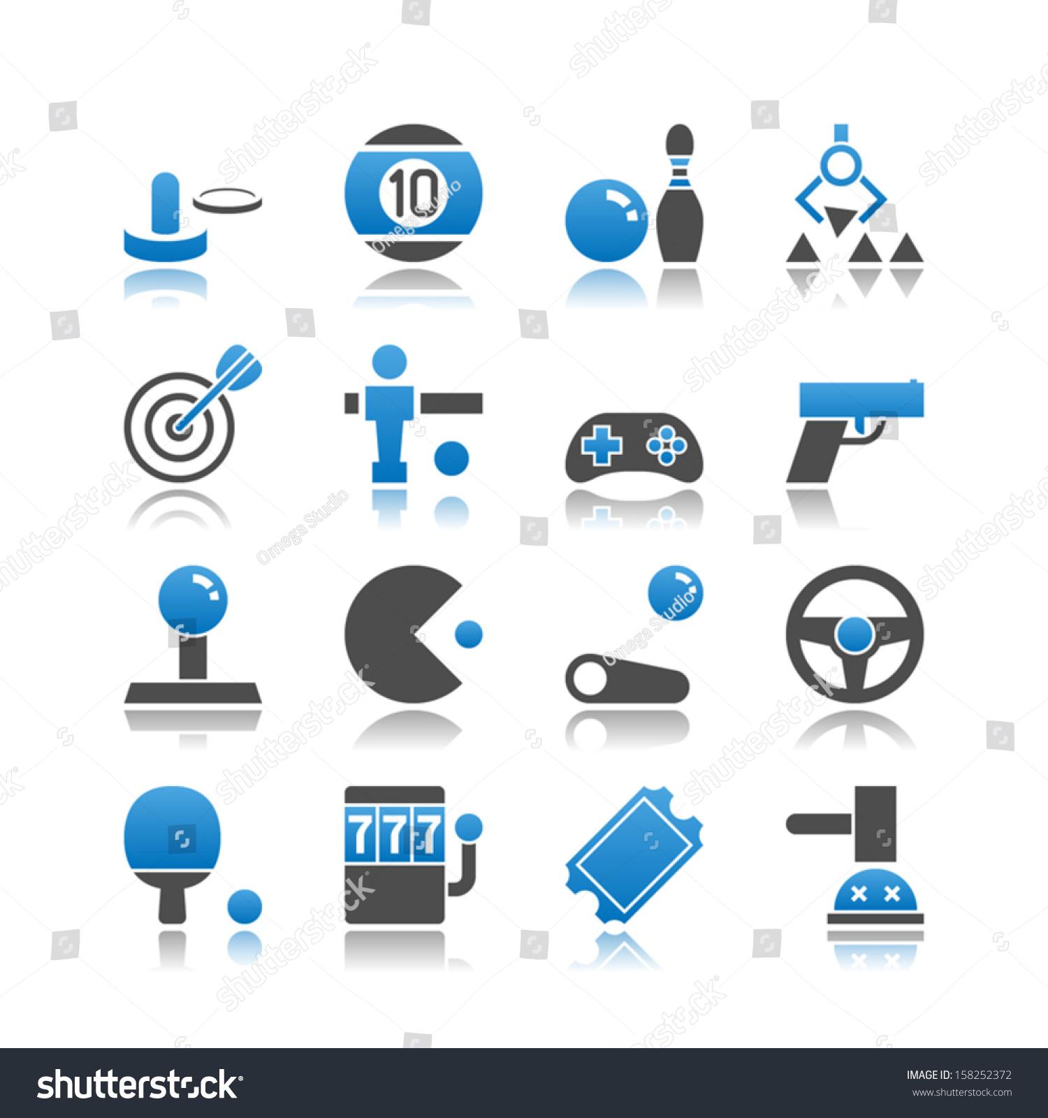 Set 16 Arcade Simple Vector Icons Stock Vector 158252372 ...
