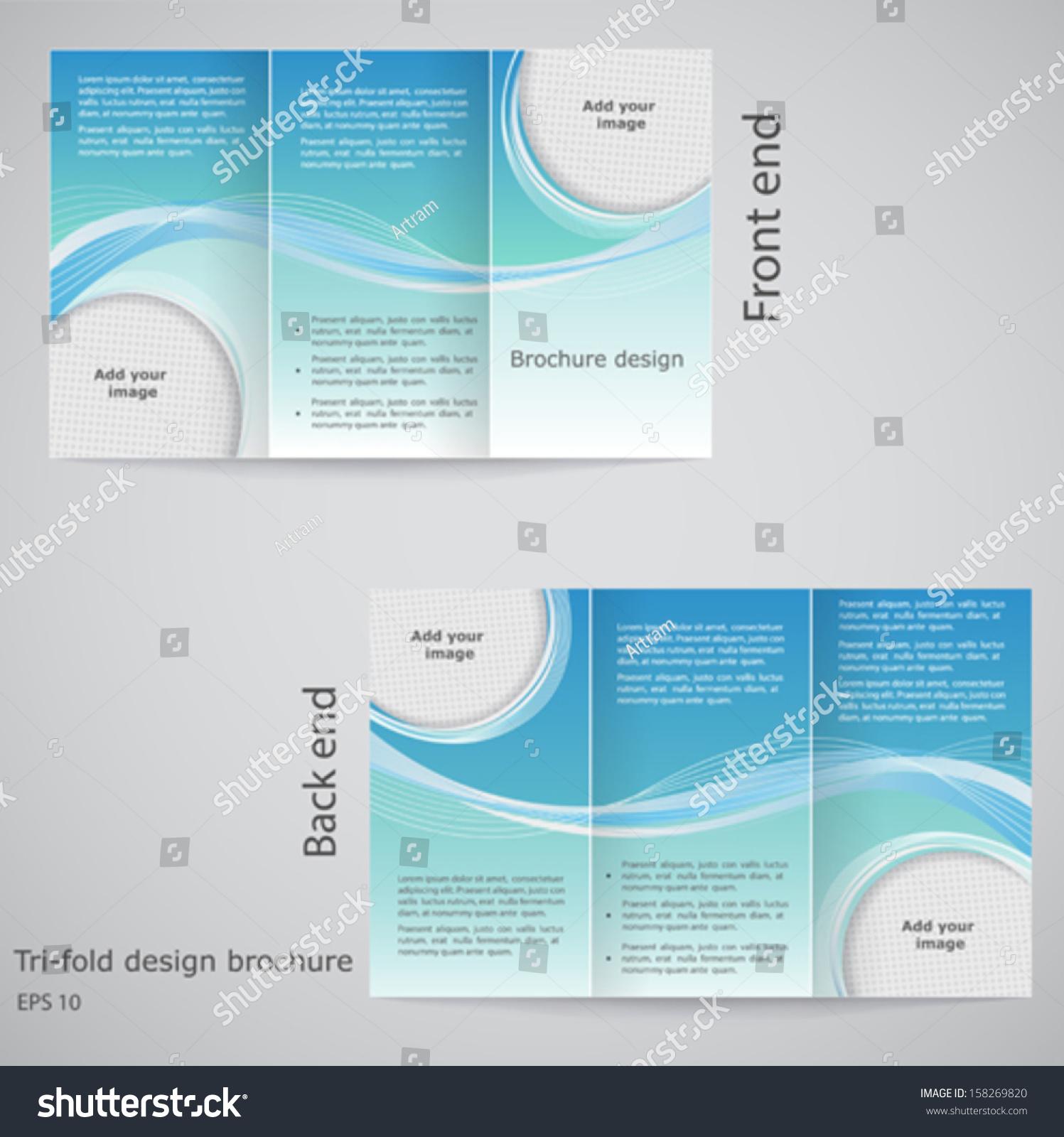 Trifold Brochure Design Brochure Template Design Stock Vector - Folding brochure template