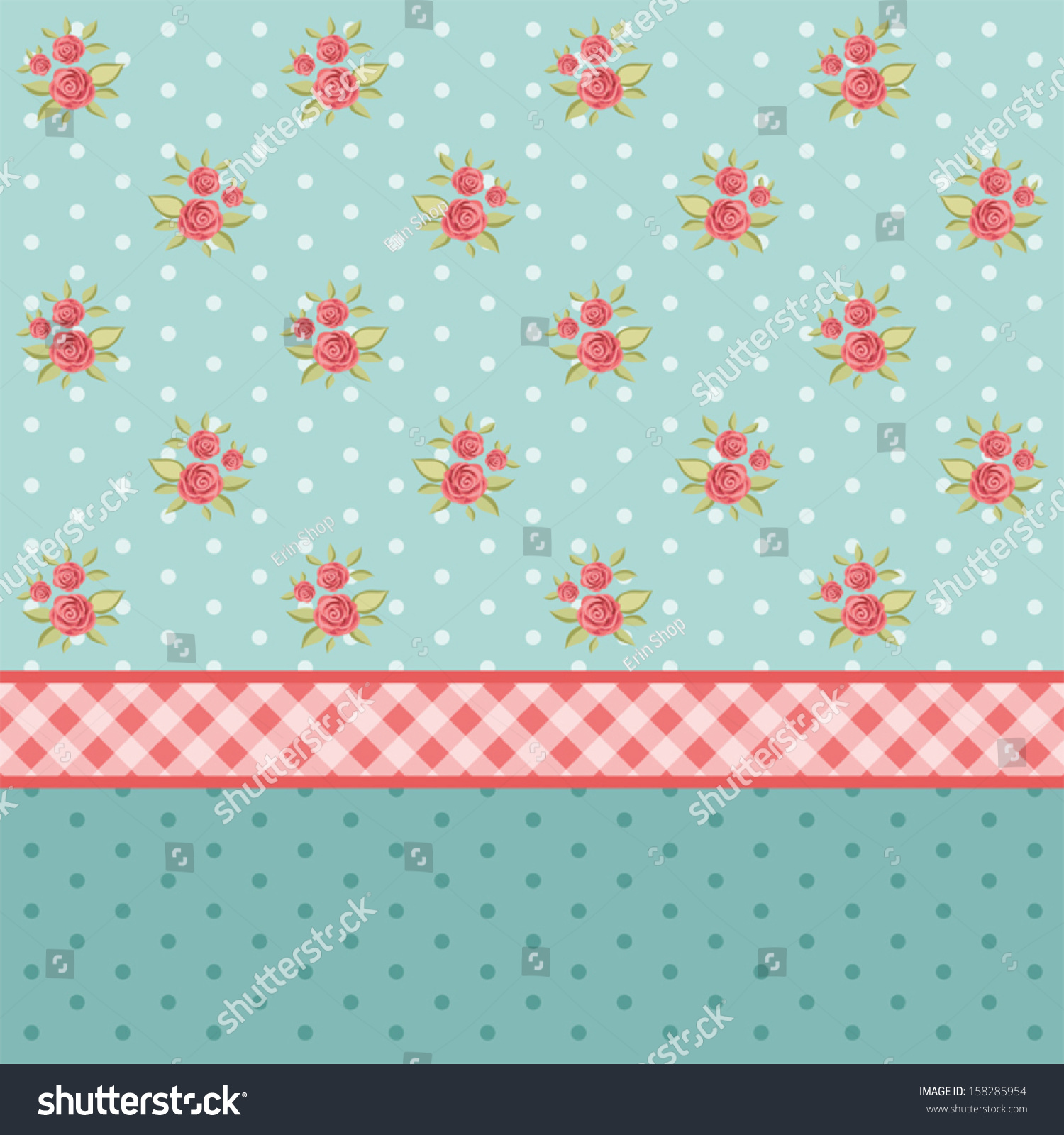Vintage Floral Wallpaper Roses Shabby Chic Stock Image Download Now
