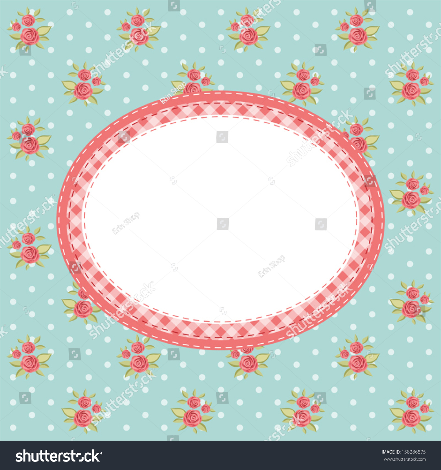 Vintage Floral Frame Roses Shabby Chic Stock Vector ...