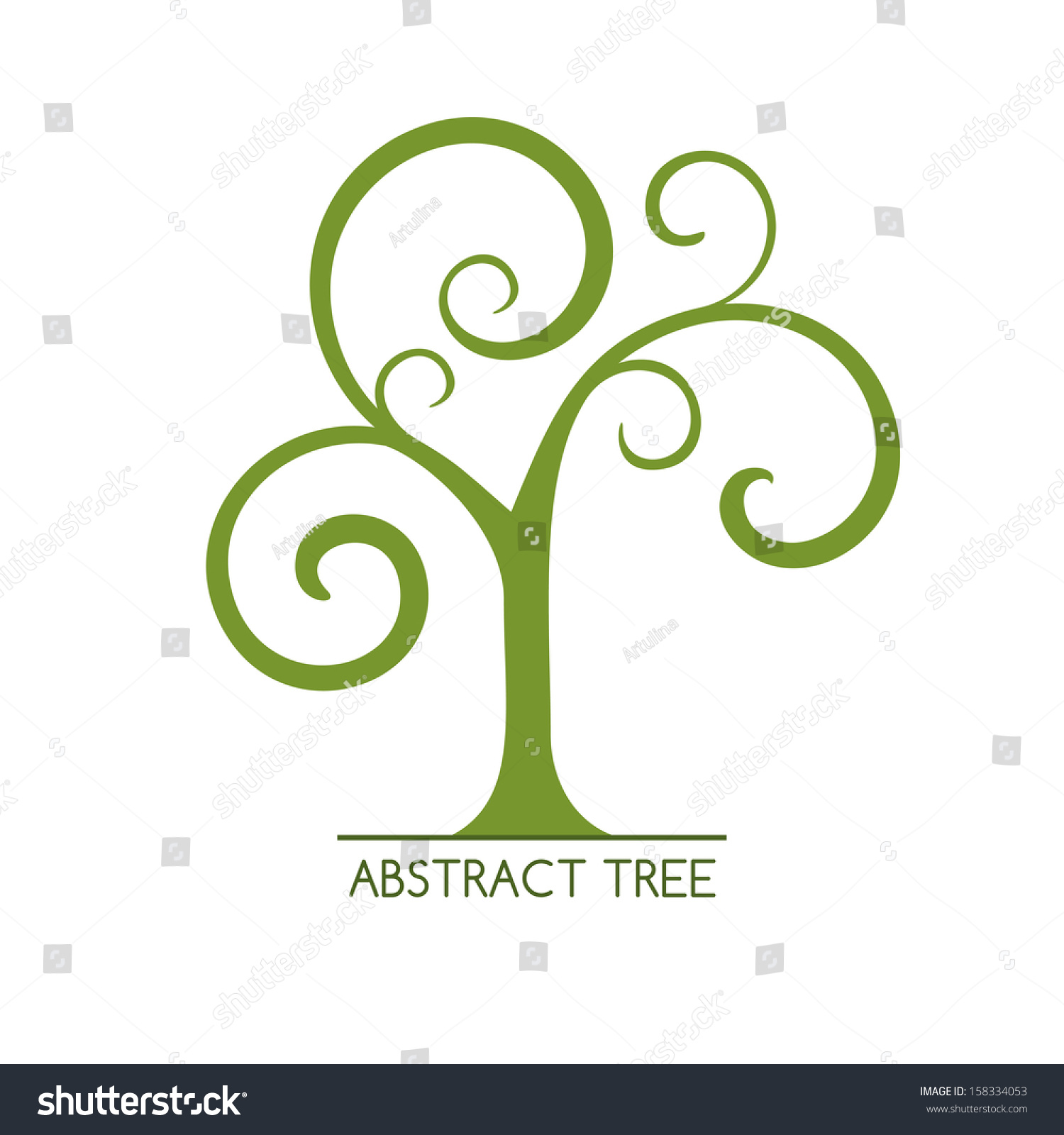 Abstract Tree Stock Vector 158334053 - Shutterstock