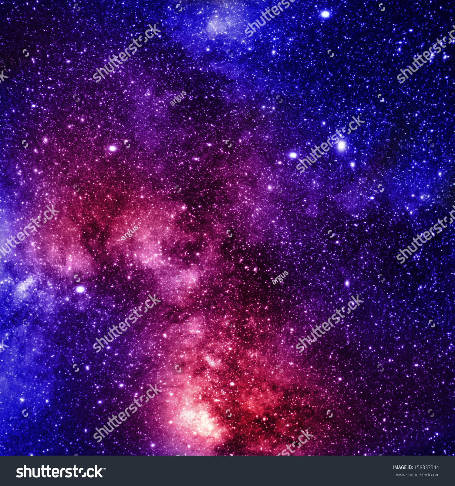 Colorful And Beautiful Galaxy Somewhere In Deep Outer ...