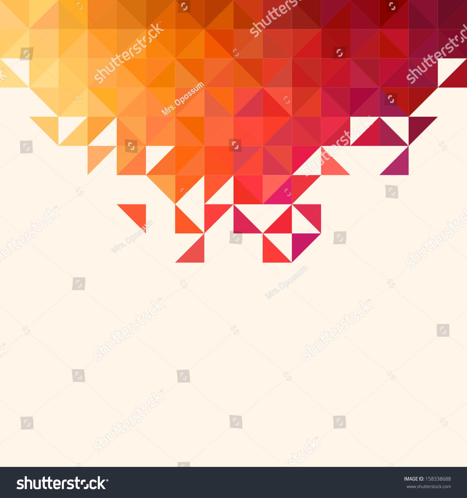 Background Geometric Shapes Colorful Mosaic Pattern Stock