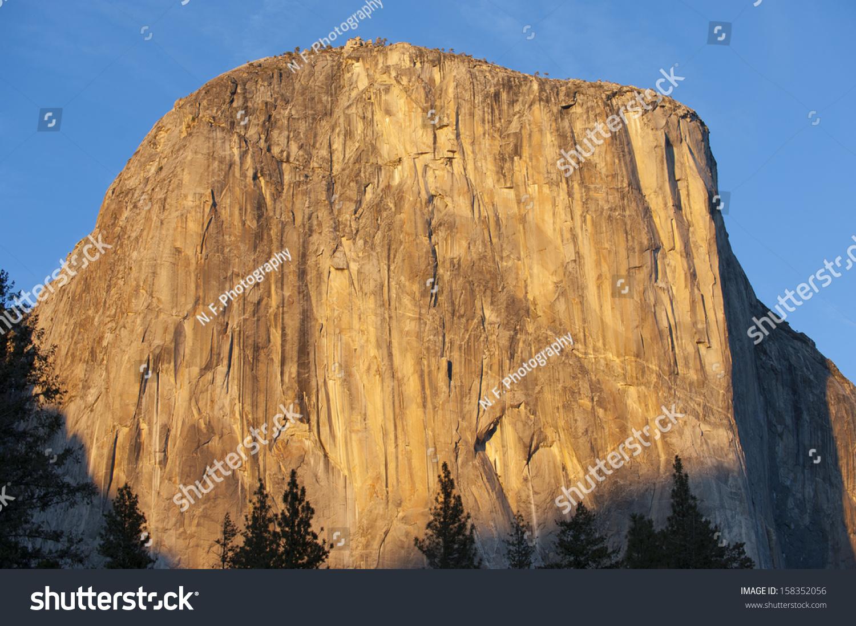 el capitan famed rock cliff yosemite stock photo & image (royalty