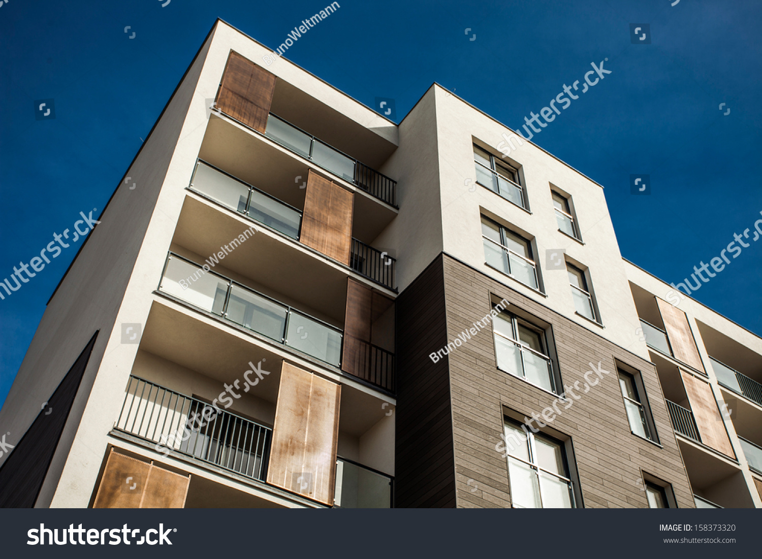 Residental building on sky background exterior stock photo for Exterior background