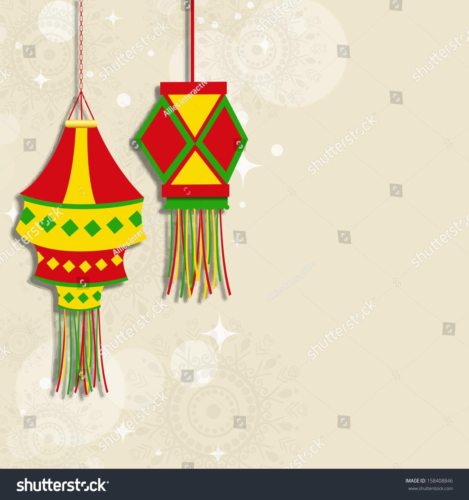 Indian Festival Lights Happy Diwali Concept Stock Vector (Royalty ...