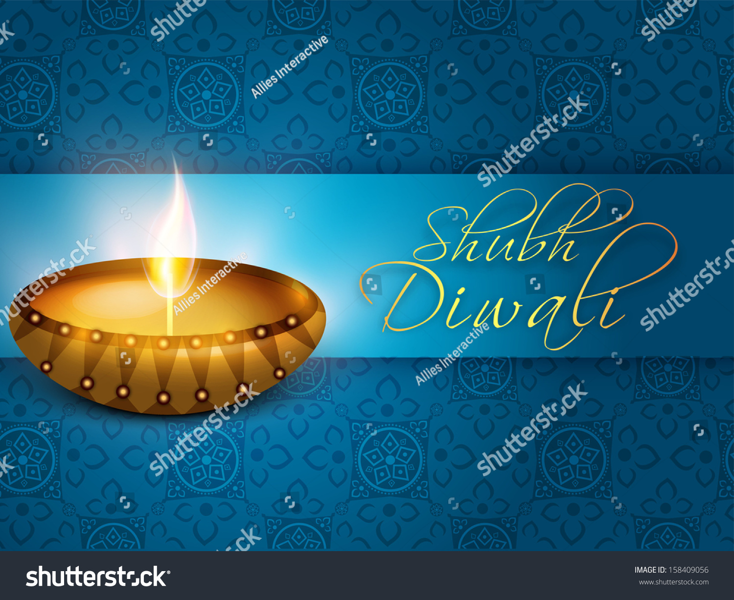 Indian Festival Lights Shubh Diwali Happy Stock Vector Royalty Free