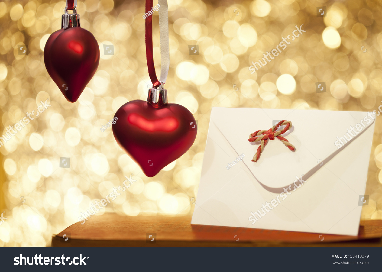 Heart Christmas Love Message Stock Photo (Edit Now) 158413079 ...