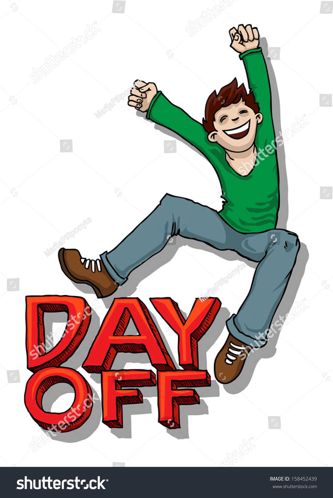 Happy Jump Day Off Sign Vector Stock Vector 158452439