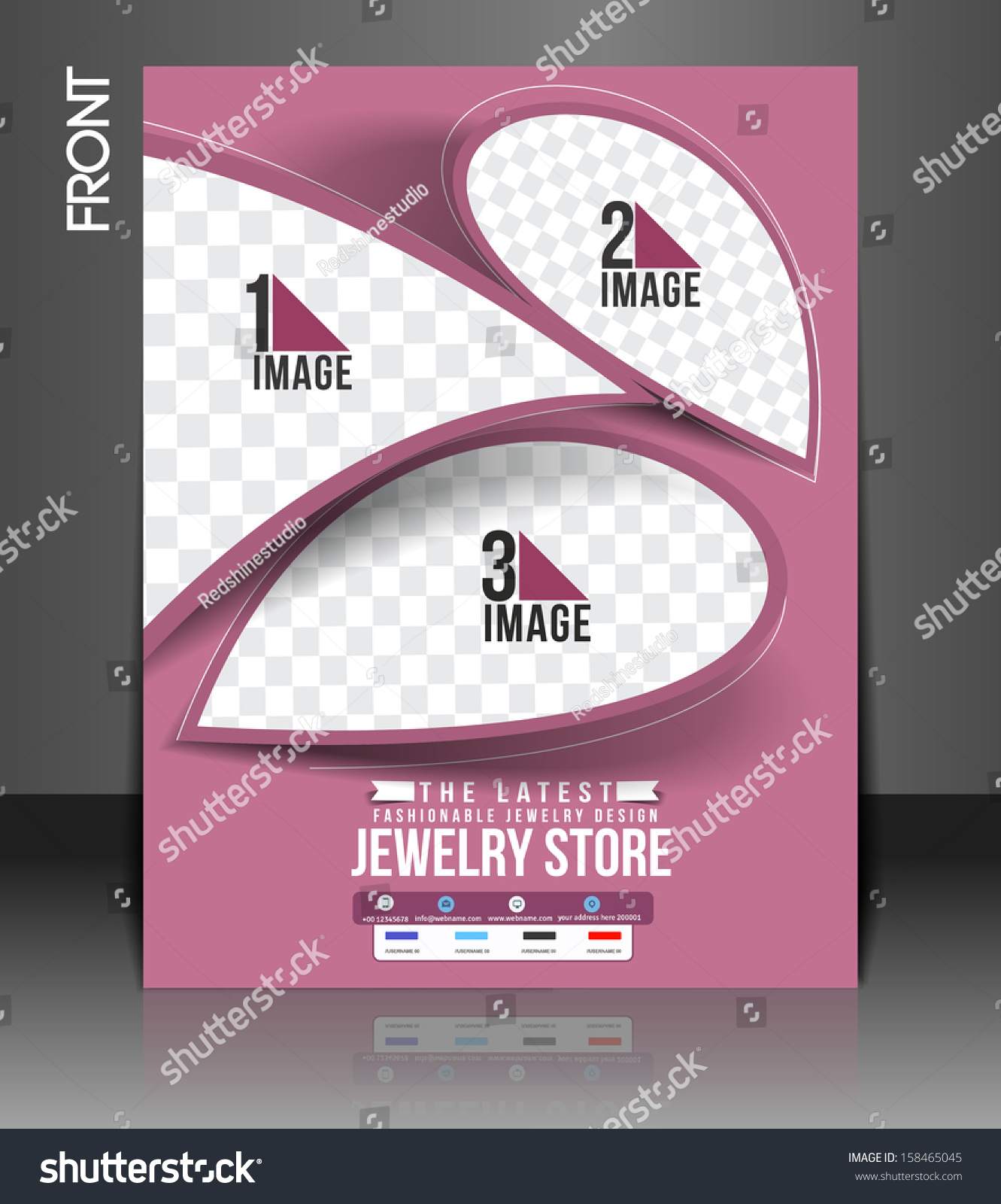 Jewelry Store Flyer & Poster Template Stock Vector Illustration ...