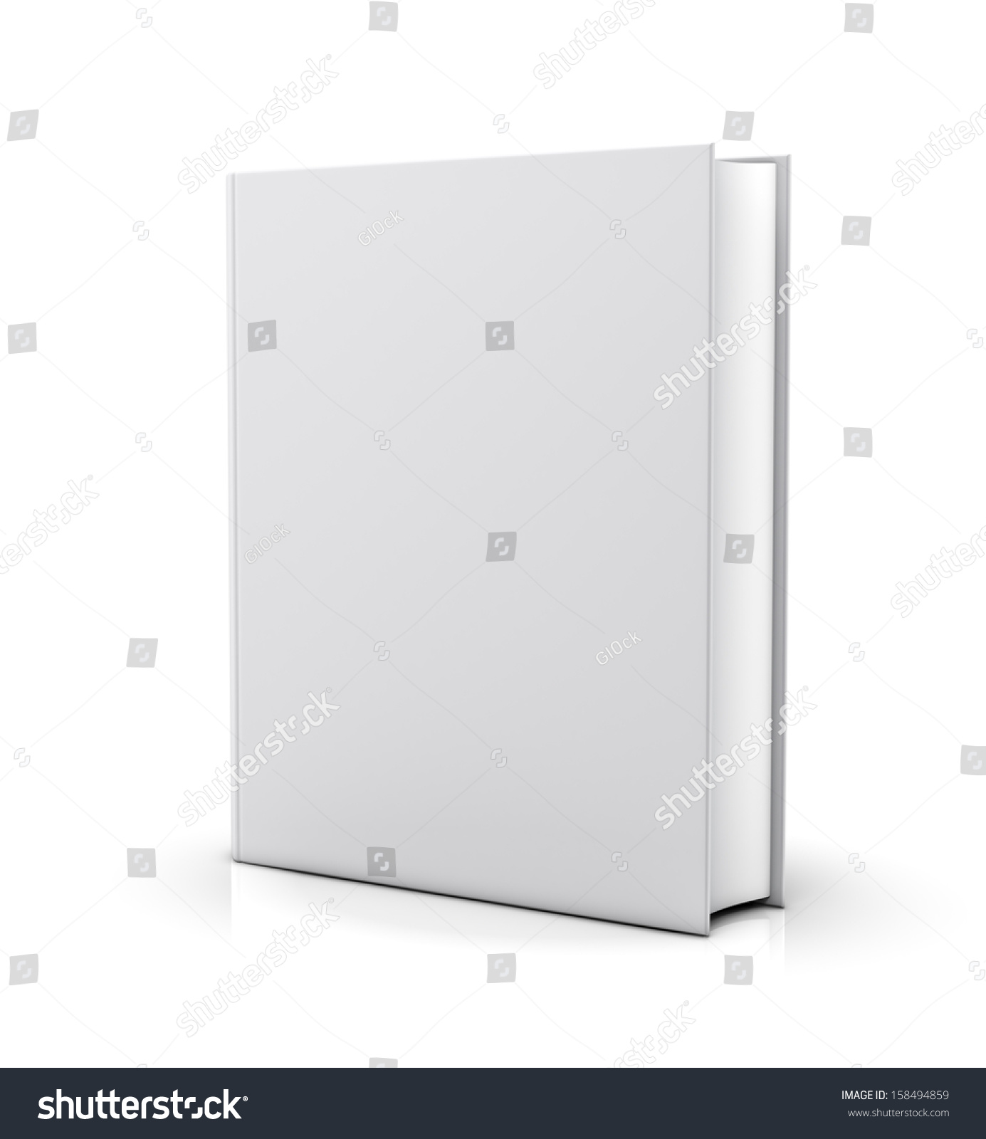 Blank Book Cover Background : Blank white book cover isolated on stock illustration