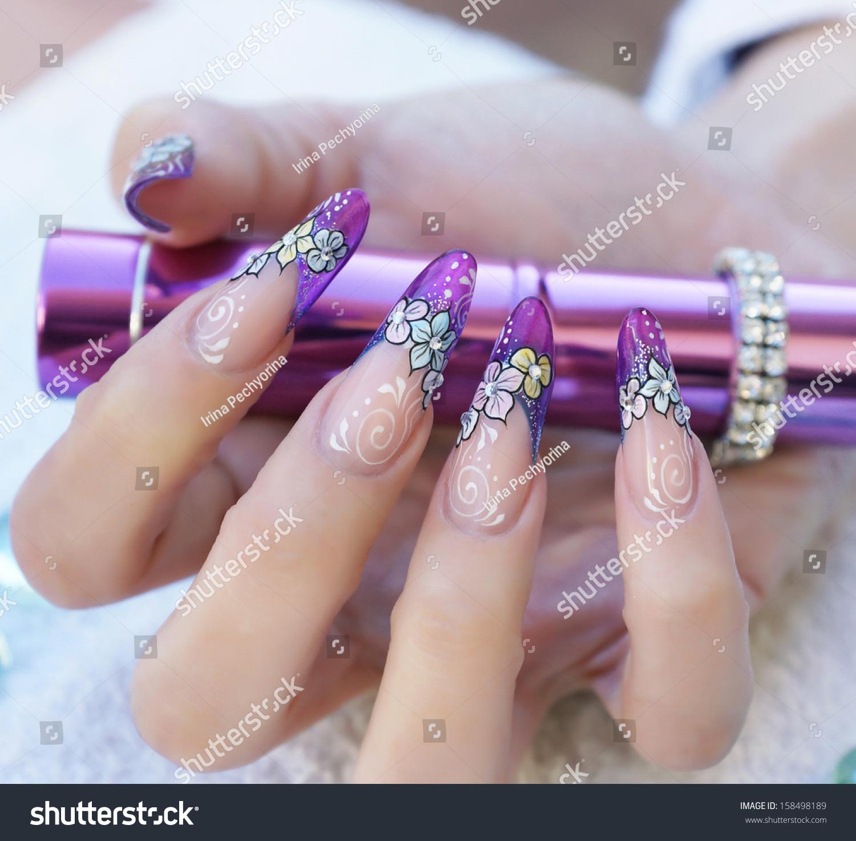 Beautiful Poster Closeup Female Hand Stunning Stock Photo (Royalty ...