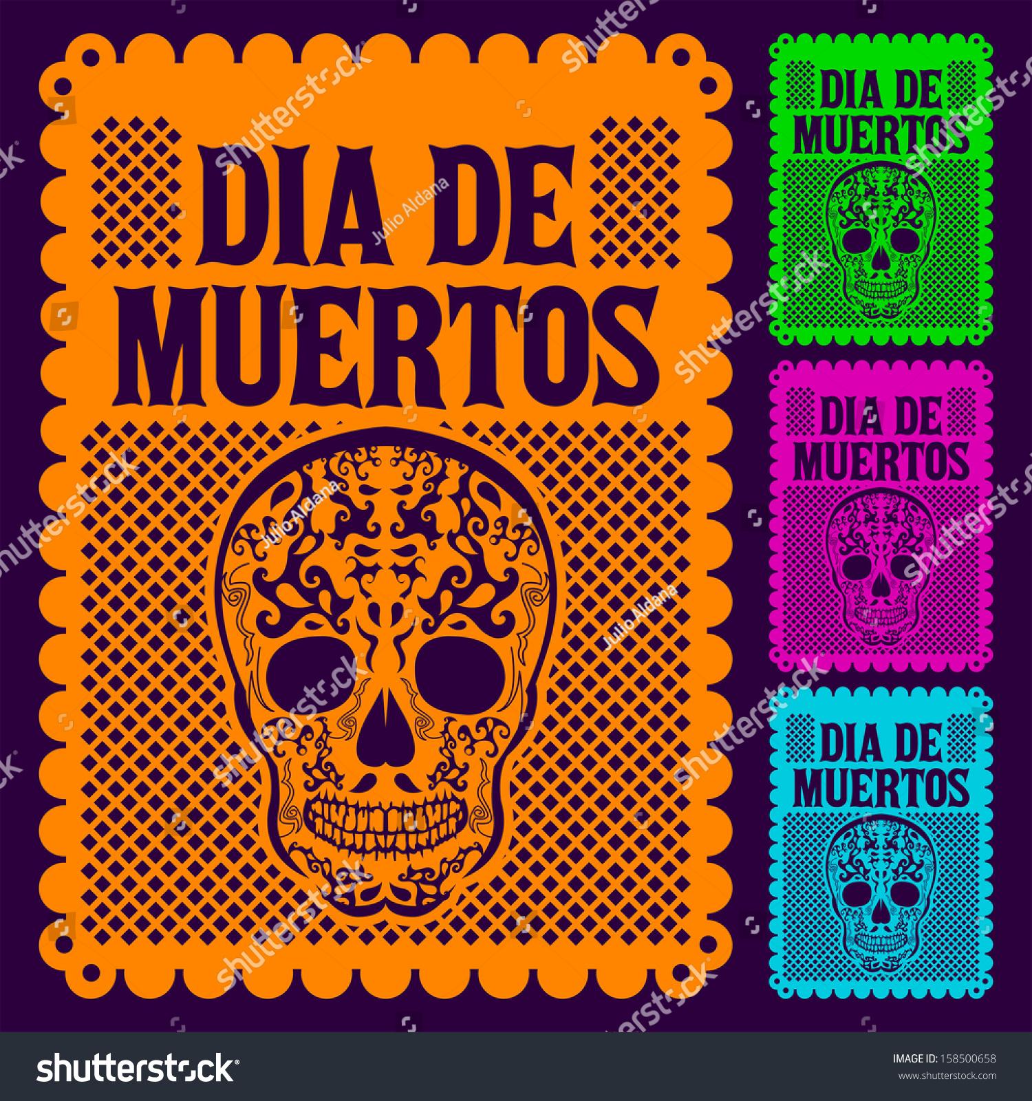 Dia De Muertos Mexican Day Death Stock Vector 158500658 Shutterstock