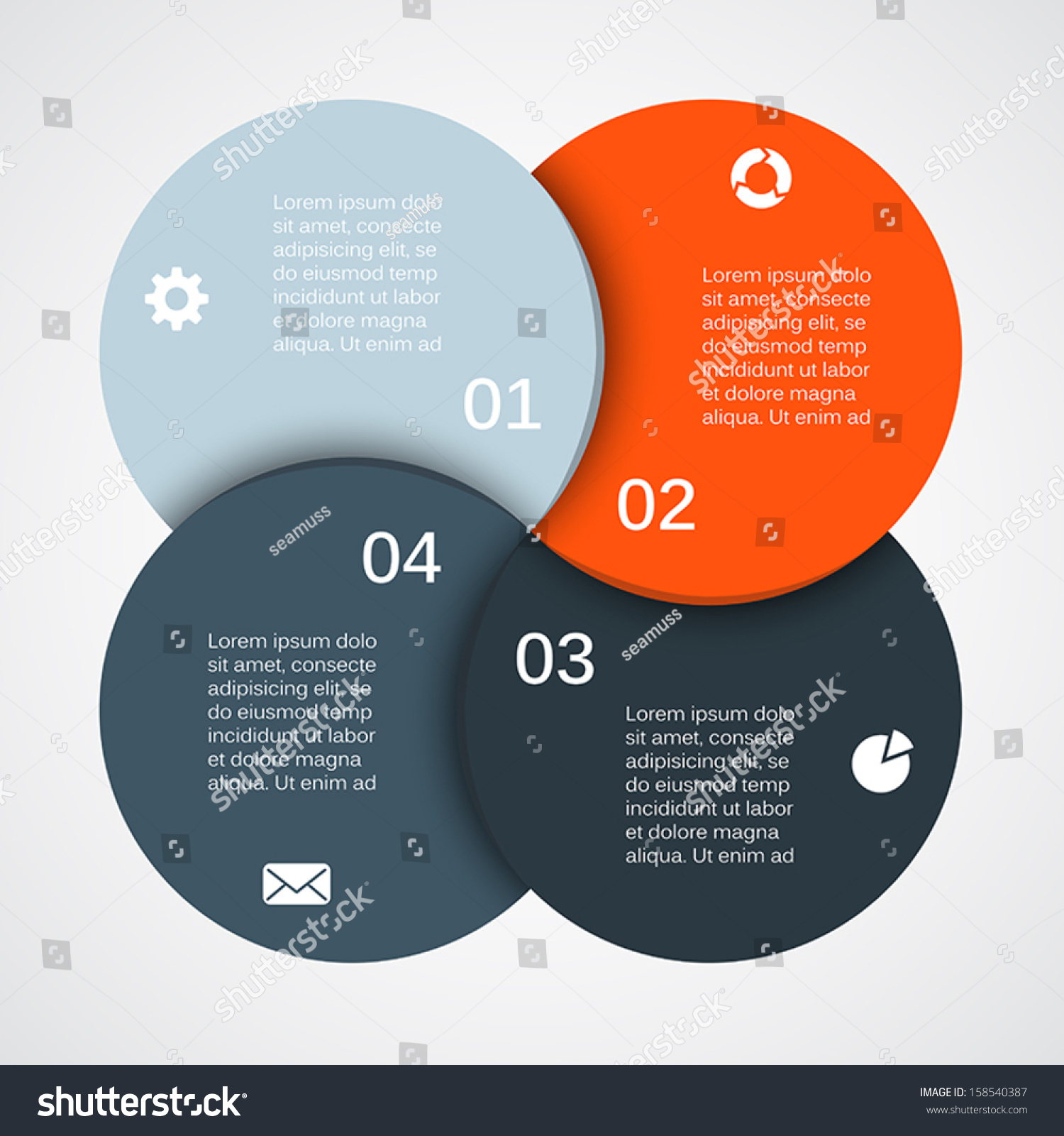 Vector circle infographic template diagram graph em vetor stock vector circle infographic template for diagram graph presentation and chart business concept ccuart Choice Image