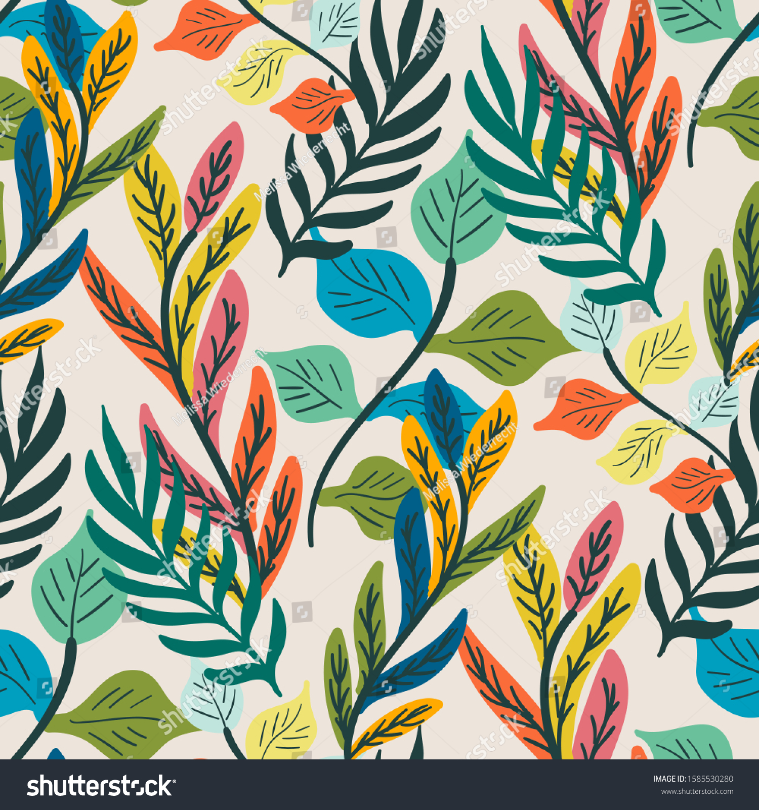 stock-vector-colorful-tropical-leaf-and-