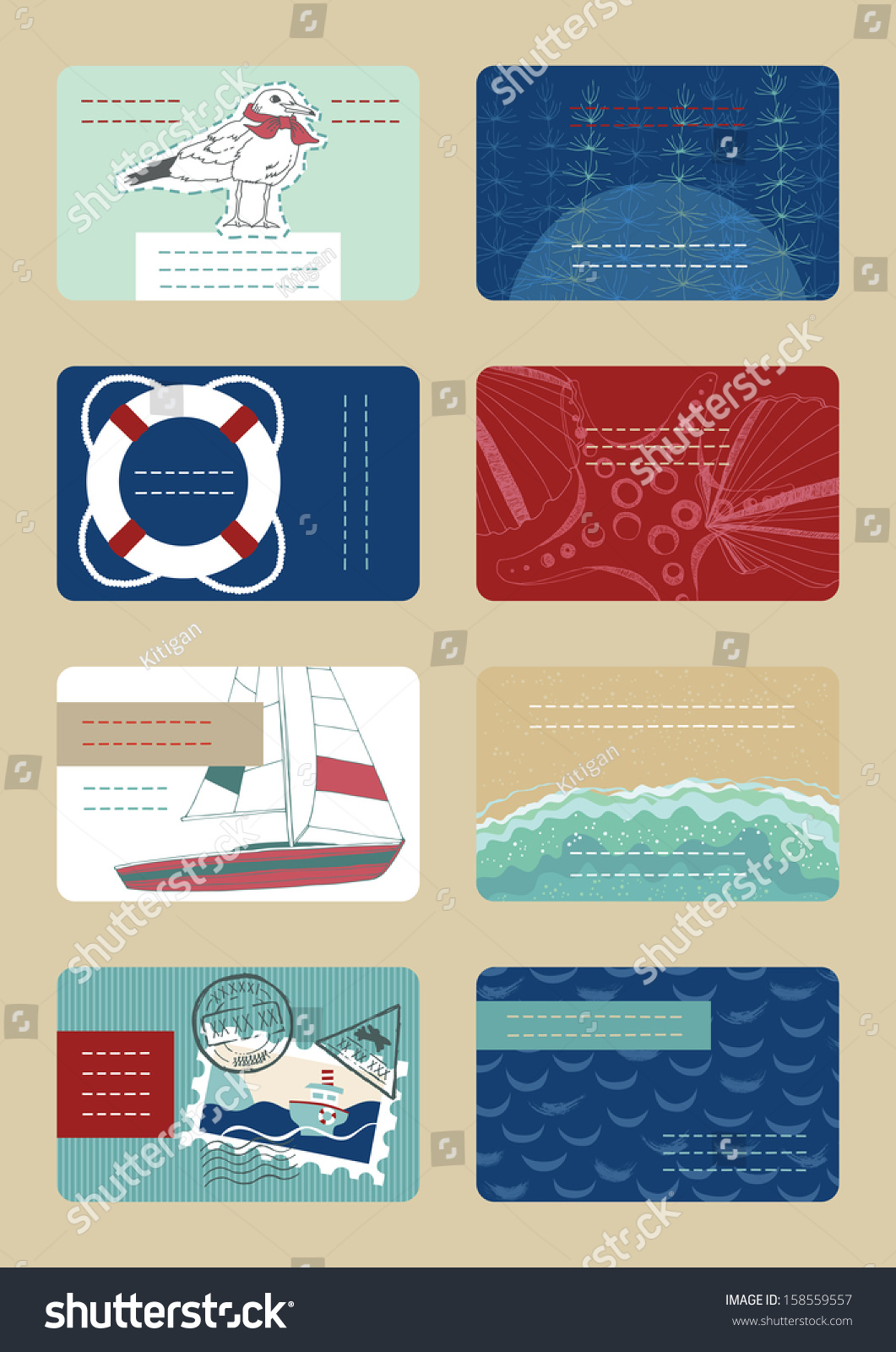 Marine business cards stock vector 158559557 shutterstock marine business cards colourmoves