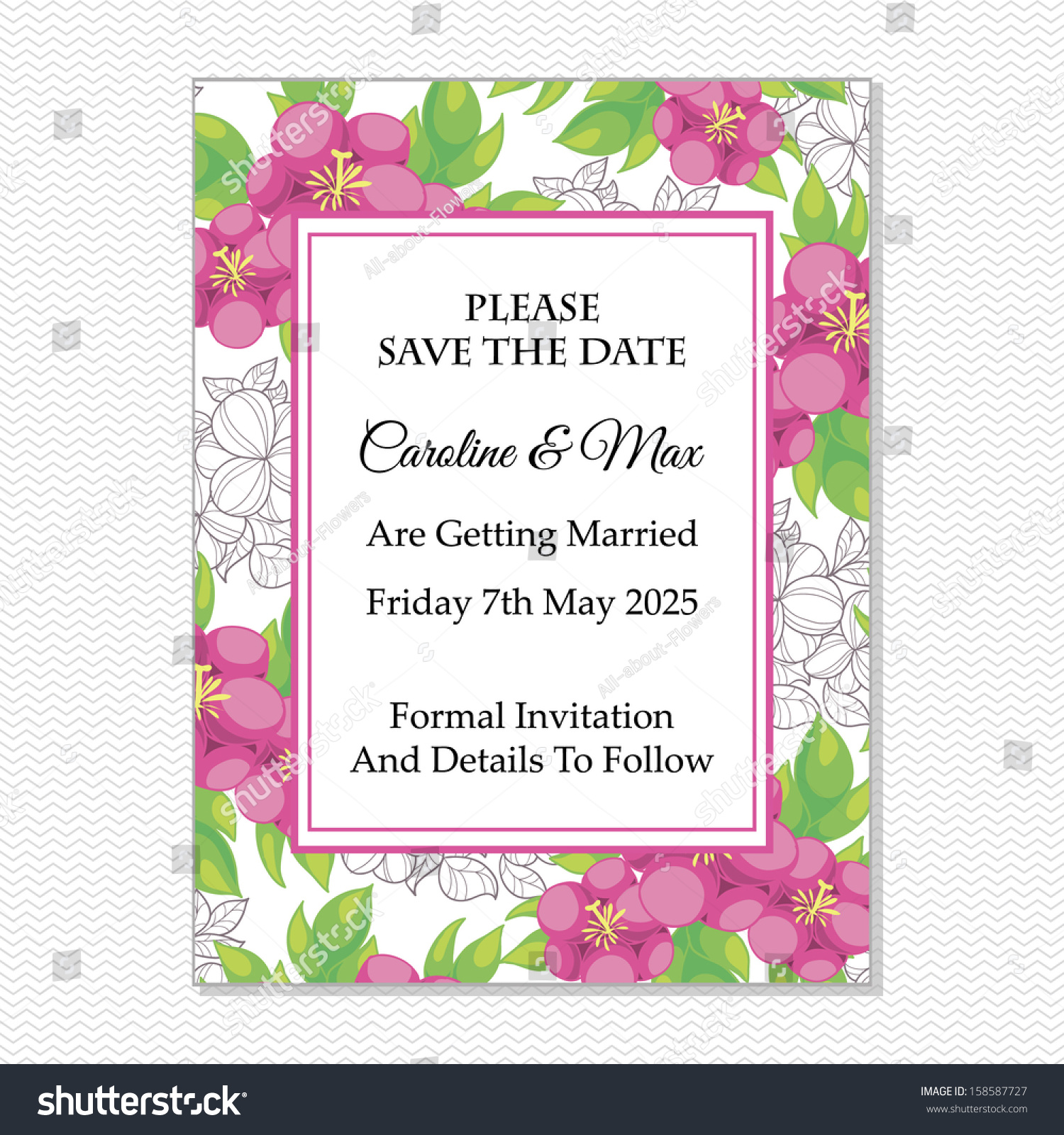 Wedding invitation card vector file contains stock vector wedding invitation card vector file contains few layers for easy using stopboris Image collections