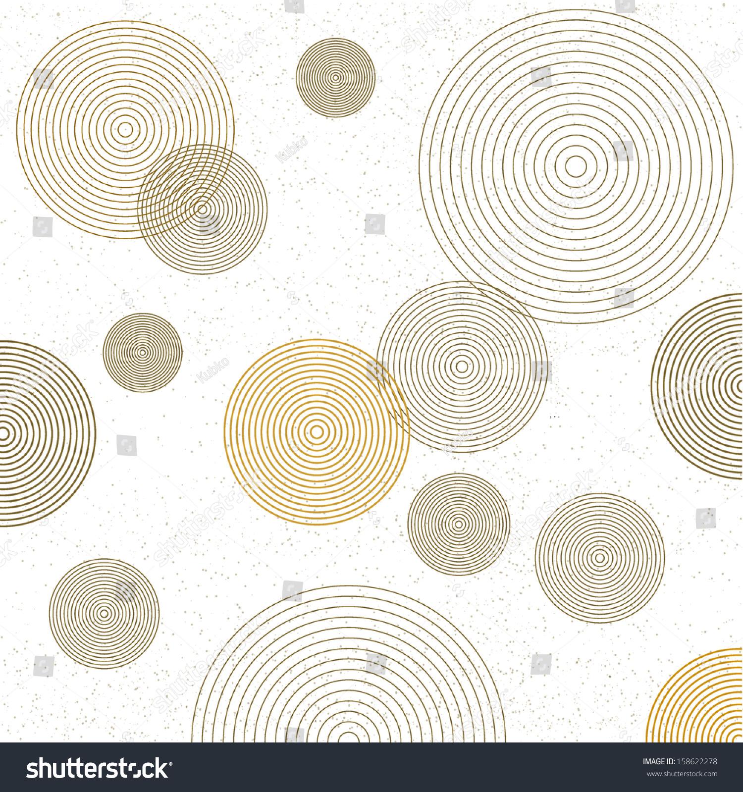 Aninimal Book: Circle Pattern Modern Stylish Texture Repeating Stock ...