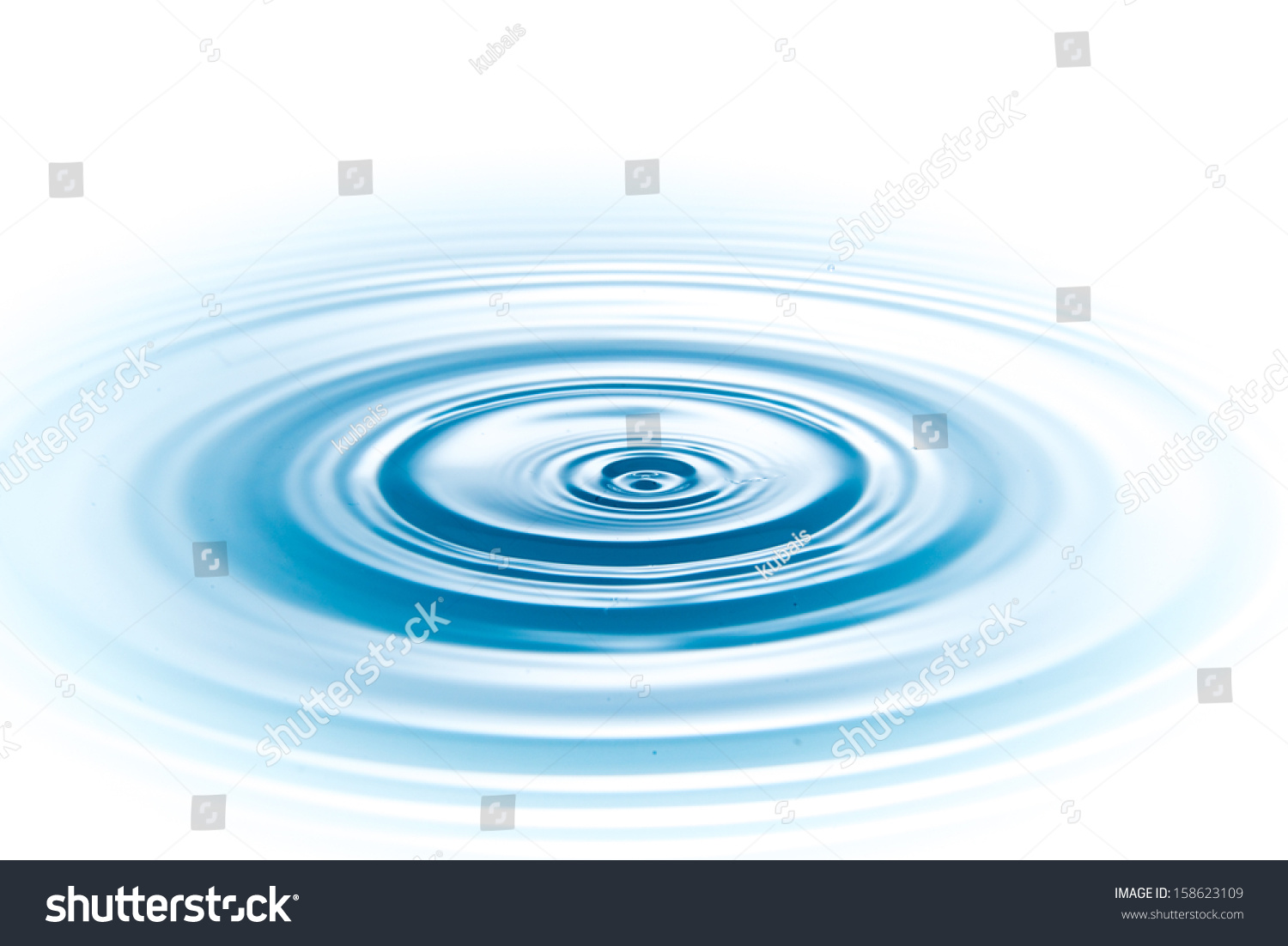 Drop Of Water On White Background Stock Photo 158623109 ...