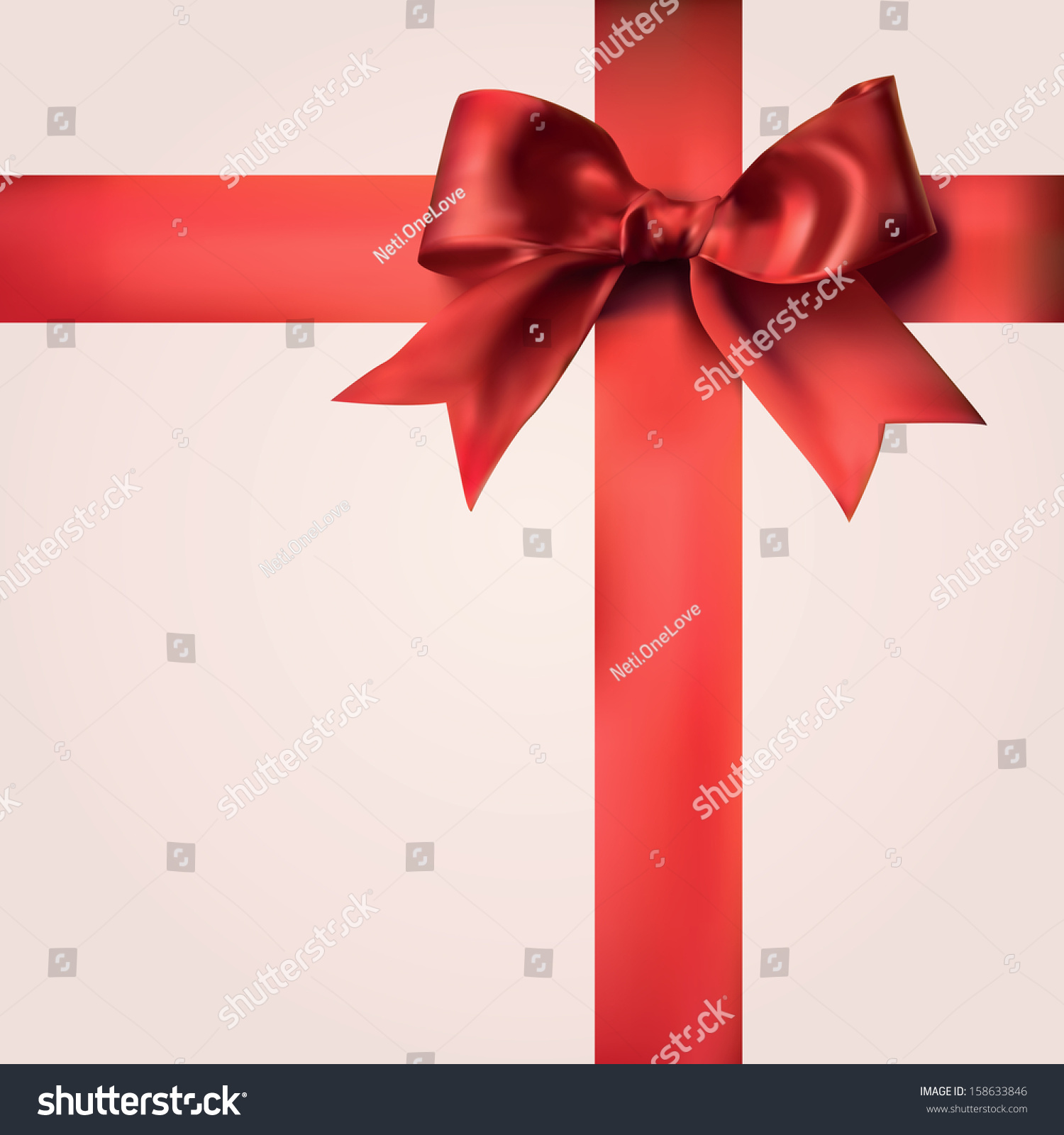 Realistic decorative red gift ribbons bow stock vector 158633846 realistic decorative red gift ribbons with bow negle Image collections