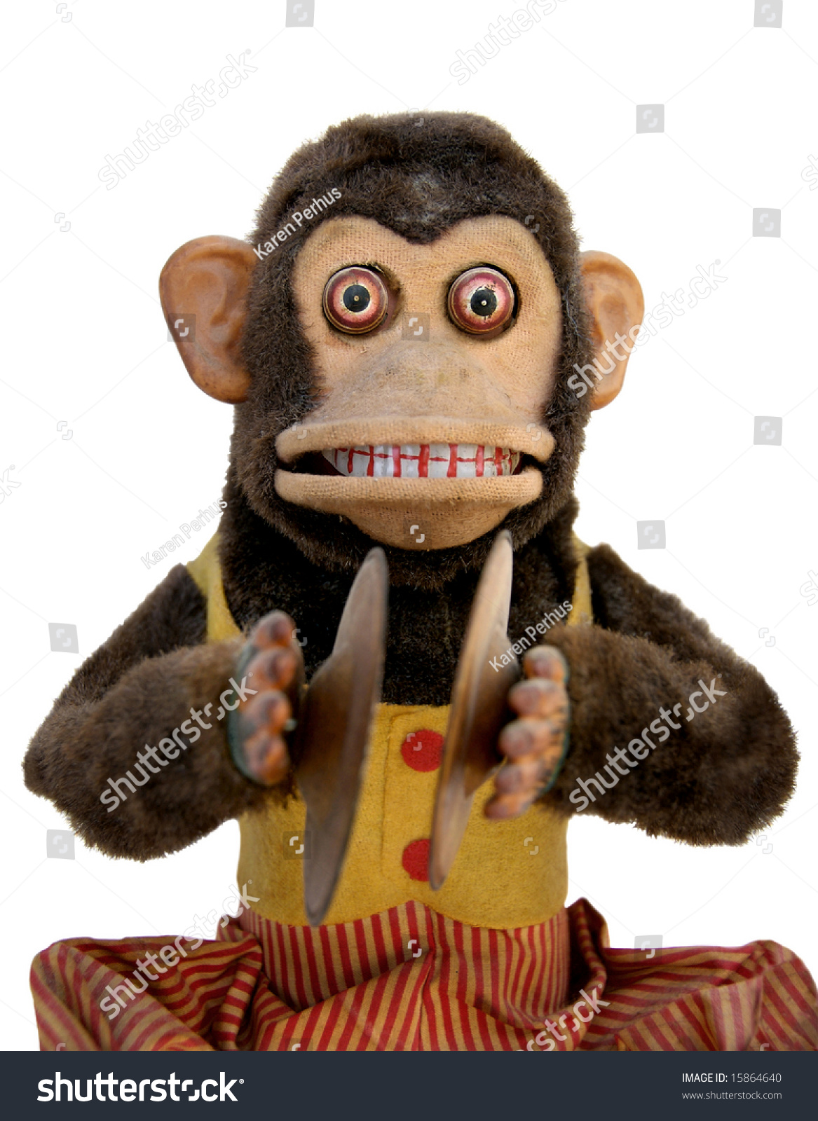 Vintage Mechanical Monkey Toy Cymbal Upper Stock Photo Edit Now